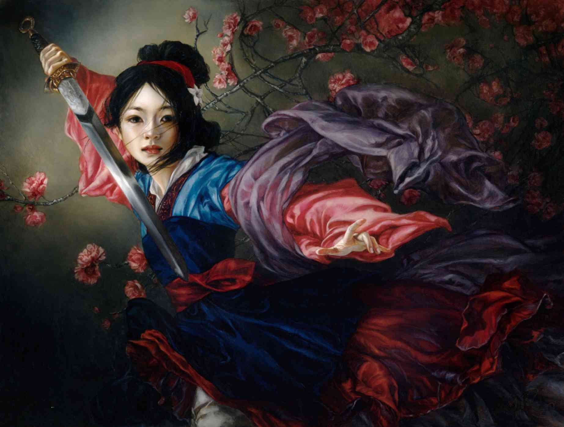 mulan realistic disney princess painting heather theurer